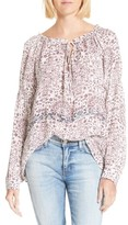 L'Agence Women's Crawford Floral Print Silk Blouse