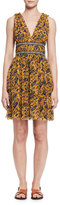 Isabel Marant Balzan Sleeveless Floral Silk Dress, Yellow