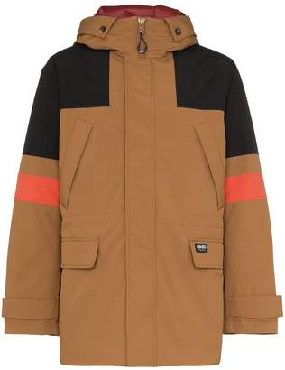 Kenzo Tech canvas padded parka coat