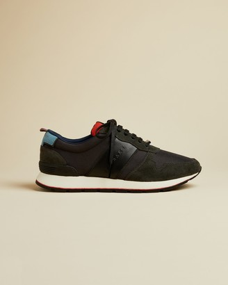 Ted Baker LHENSTR Textile and suede trainers