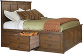 Asstd National Brand Oak Ridge 9-Drawer Storage Bed