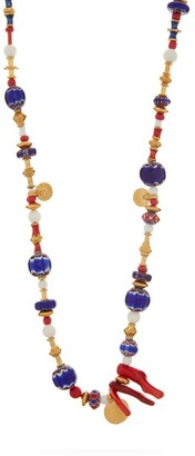 Katerina Makriyianni - Glass-bead Gold-vermeil Necklace - Multi