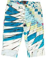 Roberto Cavalli Abstract Print Cuffed Shorts