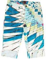 Roberto Cavalli Abstract Print Cuffed Shorts