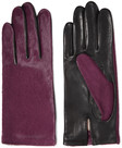 agnelle twotone calf hair and leather gloves