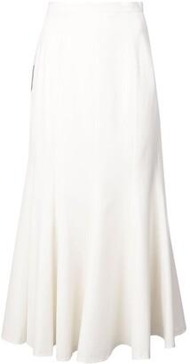 Natasha Zinko Colourblock Ruffled Midi Skirt