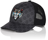 Gucci Men's Cat-Embroidered GG Supreme Baseball Cap