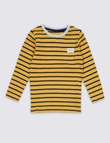 Marks and Spencer Pure Cotton Stripped Top (3 Months - 5 Years)