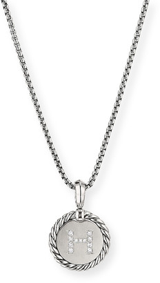 David Yurman Collectible Diamond Initial H Necklace