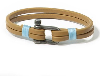 Panareha Teahupo'O Leather Bracelet Brown & Blue