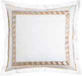 Peter Reed White Greek Key European Sham with Embroidery