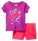 Puma Graphic Top & Short Set (Baby Girls)