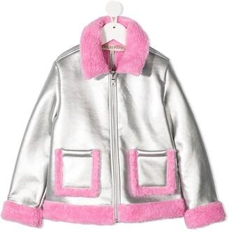 Emilio Pucci Junior Faux-Shearling Metallic Jacket