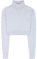 Balmain Angora And Wool-blend Cropped Sweater