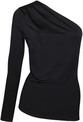 Me & Thee Every Which Way Black One Sleeve Top