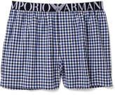 Emporio Armani Loungewear Yarn Dyed Woven Boxer