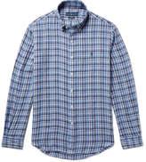 Polo Ralph Lauren Slim-fit Button-down Collar Checked Linen Shirt