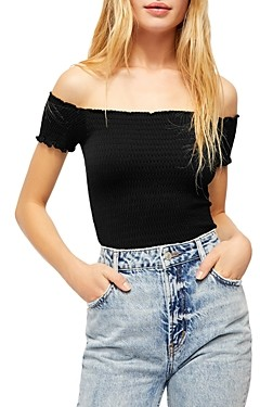 Free People Moulin Off-the-Shoulder Crop Top