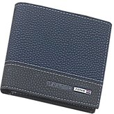 BiggerStore Mens Leather Bifold Money Card Holder Wallet Coin Purse Clutch Pockets