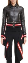 Givenchy Women's Lambskin Leather Jacket With Zip Off Hem