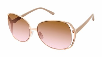 Tahari Women's TH751 Oval Shaped Sunglasses with 100% UV Protection 62 mm