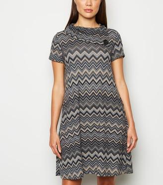 New Look Mela Jersey Geometric Swing Dress