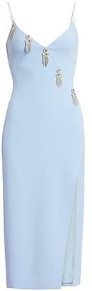 David Koma Crystal Chain Motif Pencil Dress