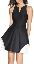 Halston Contrast-Detail Dress