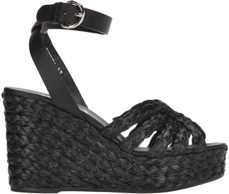 Prada butterfly Wedge Sandals