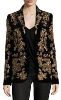 Ralph Lauren Yvette Beaded Two-Button Jacket, Black