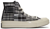 Converse Black and White Twisted Prep Chuck 70 High Sneakers