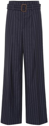 Polo Ralph Lauren Pinstripe wide-leg wool pants