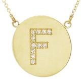 Jennifer Meyer Diamond Letter Necklace - F