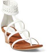 Ralph Lauren Meira Leather Wedge Sandal