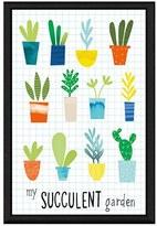 Green Leaf Art 'Succulent Garden' Giclee Print Framed Canvas Art