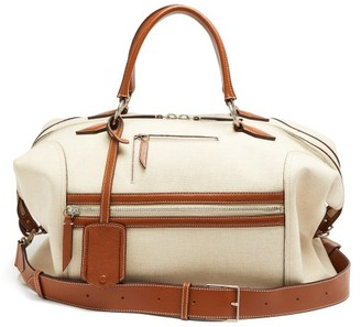 Vagabond Métier London Metier London Large Linen-canvas Weekend Bag - Womens - Beige Multi