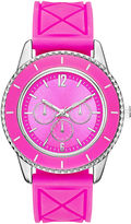 JCPenney FASHION WATCHES Womens Colorful Quilted Silicone Strap Watch