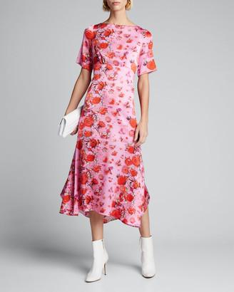 Peter Pilotto Floral Drop-Waist Midi Dress