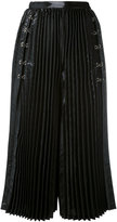 Comme des Garcons pleated wide leg culottes - women - Polyester/Cupro - S