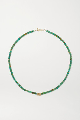Pascale Monvoisin Taylor N1 9-karat Gold, Turquoise And Diamond Necklace - Green