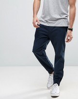 Hollister Cuffed Woven Joggers Slim Fit In Navy