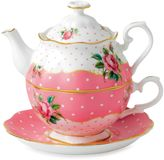 Royal Albert Vintage Tea-for-One in Cheeky Pink