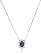 Tagliamonte Incanto Royale Diamond and Sapphire Drop 18K Gold Necklace