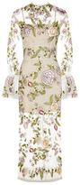 Rachel Gilbert Finley Bell Sleeve Gown