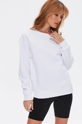 Forever 21 Basic Fleece Drop-Sleeve Pullover