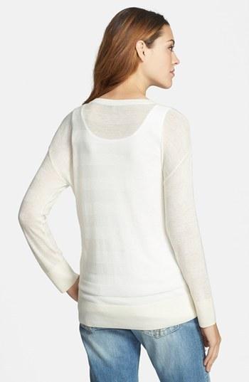 Halogen Stripe Pattern Sweater