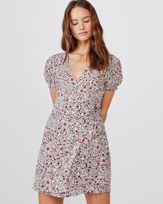 Cotton On Woven Amy Wrap Mini Dress
