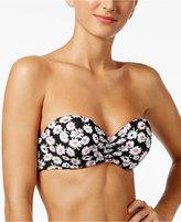 California Waves Daisy Duke Strappy Bandeau Bikini Top