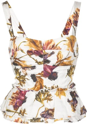 Jason Wu Collection Floral-Print Top