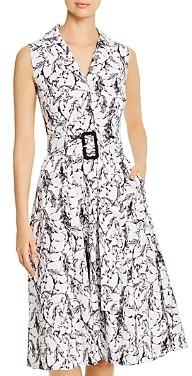 T Tahari Sleeveless Horse Print Shirt Dress